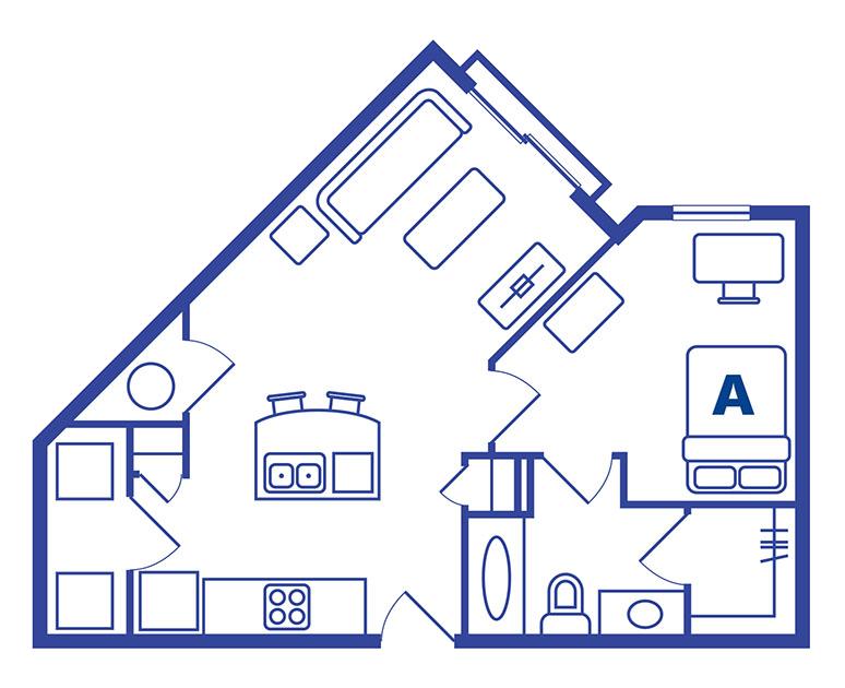 1 bedroom 1 bath apartments near Ucf