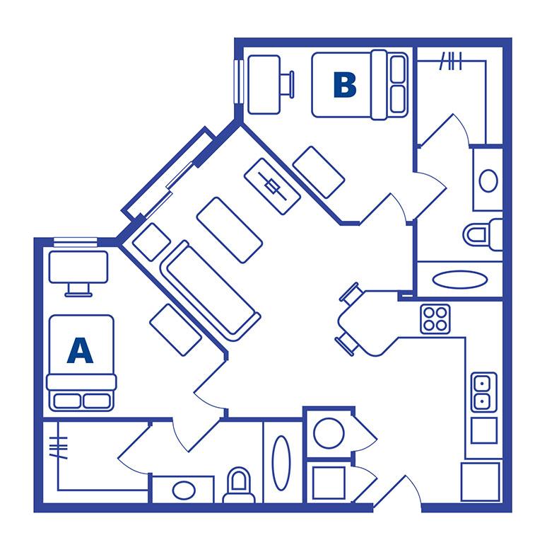 2 bedroom 2 bath apartments near Ucf