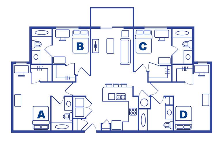 4 bedroom 4 bath apartments Orlando