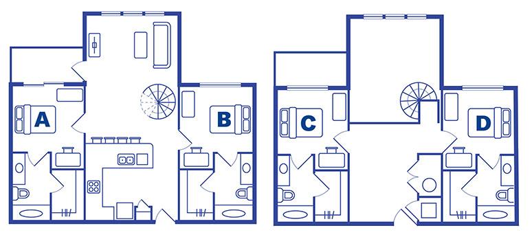 4 bedroom 4 bath apartments near Ucf